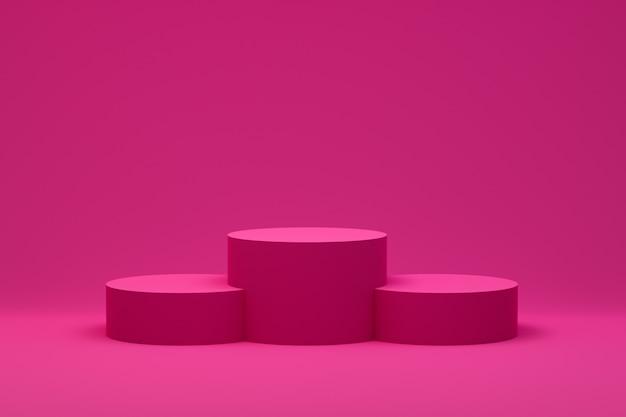 3d 렌더링, 화장품 프리젠 테이션, 추상적 인 기하학적 모양에 대 한 최소한의 추상적 인 배경