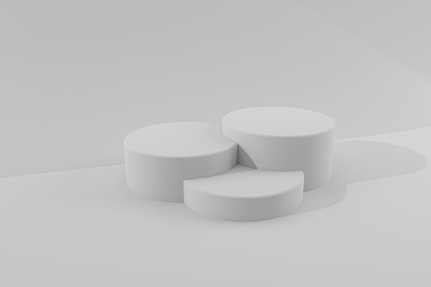 3d rendering podium for product presentation