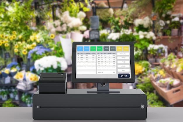 店舗管理のための3dレンダリングposシステム