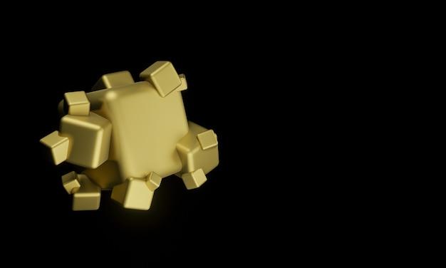 3dレンダリングパイライト結晶形愚か者の金鉱物