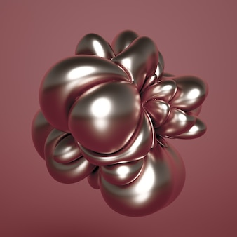 3d rendering of a realistic composition. flying spheres, tori, tubes, cones and crystals in motion.beautiful abstraction background minimalism. 3d illustration, 3d rendering.