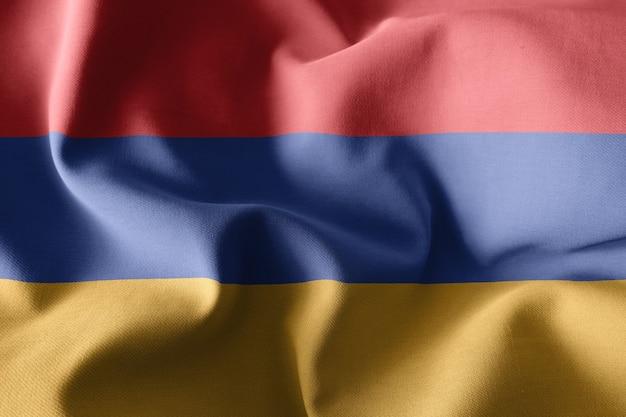 아르메니아의 3d 렌더링 현실적인 흔들며 실크 플래그