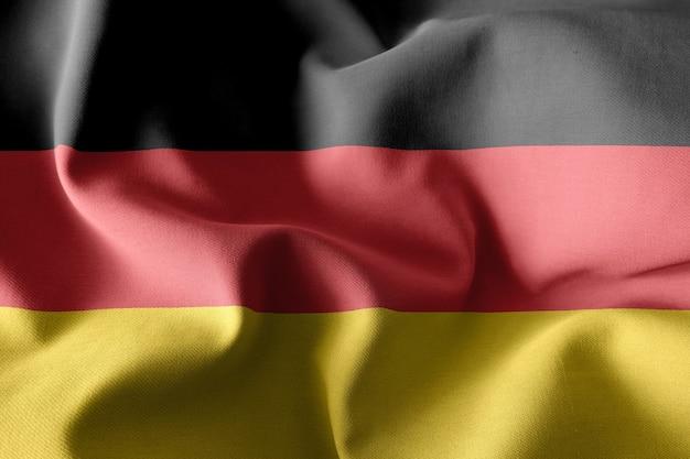 독일의 3d 렌더링 현실적인 흔들며 실크 깃발