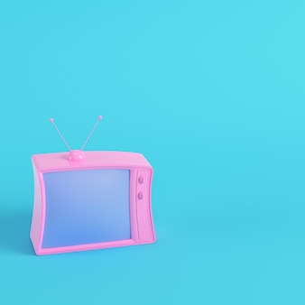 レトロなスタイルのテレビの3dレンダリング