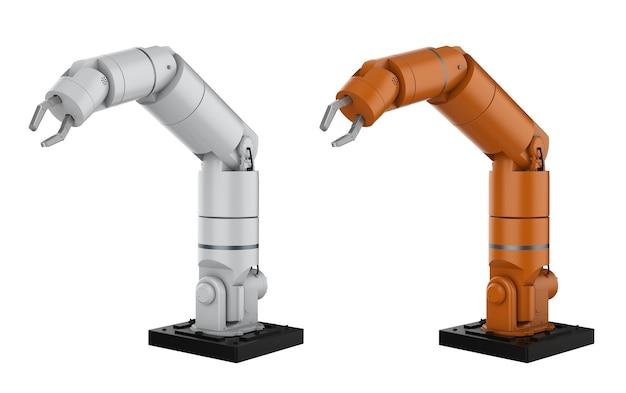 흰색에 고립 된 3d 렌더링 로봇 팔 또는 로봇 손