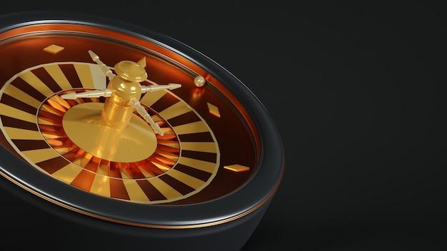 3d rendering roulette machine , casino background concept.