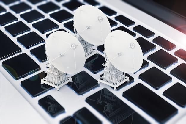 3d визуализация спутниковых антенн на клавиатуре