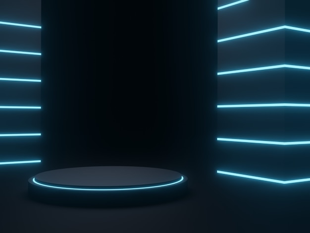 3d 렌더링 sci fi 제품 스탠드