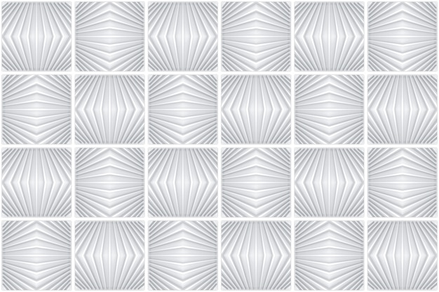 3d rendering. seamless gray modern square grid art pattern ceramic tiles design texture wall background.