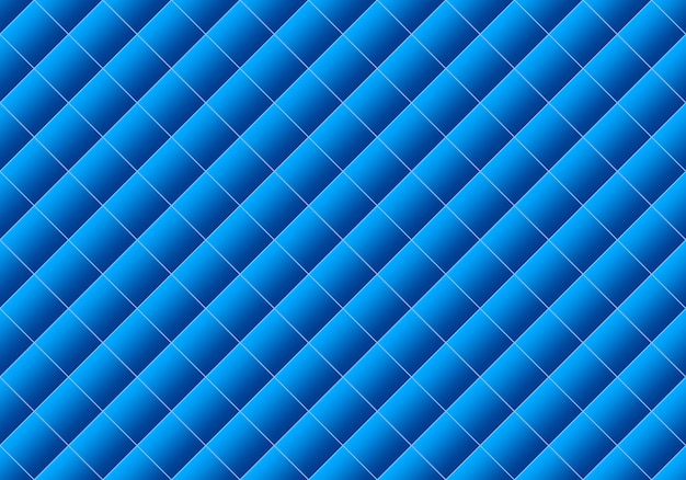 3d rendering. seamless modern gradient blue color square grid pattern design wall art background.