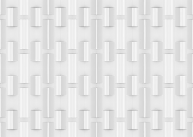 3d rendering. seamless modern white sqaure brick pattern wall design texture background.