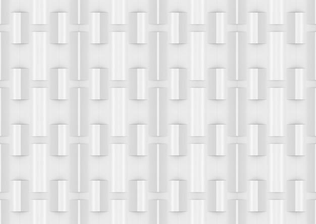 3dレンダリング。シームレスなモダンな白い正方形のレンガパターンの壁のデザインのテクスチャの背景。
