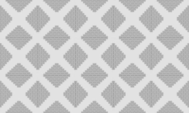 3d rendering. seamless simple gray square grid pattern wall background.