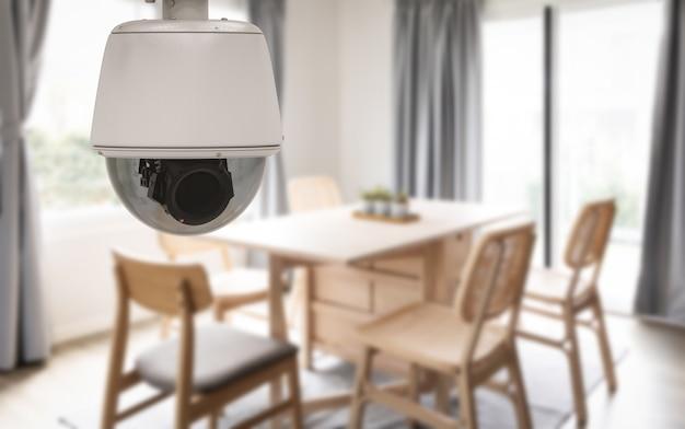 집에서 3d 렌더링 보안 카메라 또는 cctv 카메라