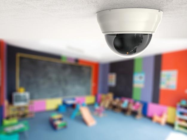 天井に3dレンダリングセキュリティカメラまたはcctvカメラ