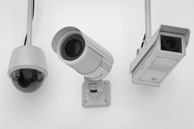 천장에 3d 렌더링 보안 카메라 또는 cctv 카메라