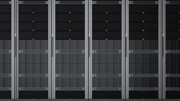 3dレンダリングサーバーコンピュータークラスターまたはサーバーラック