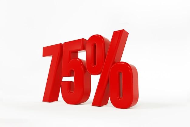 3d rendering of a seventy-five percent