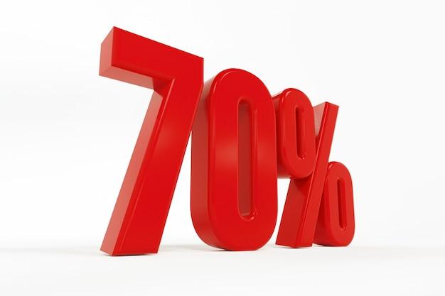 3d rendering of a seventy percent