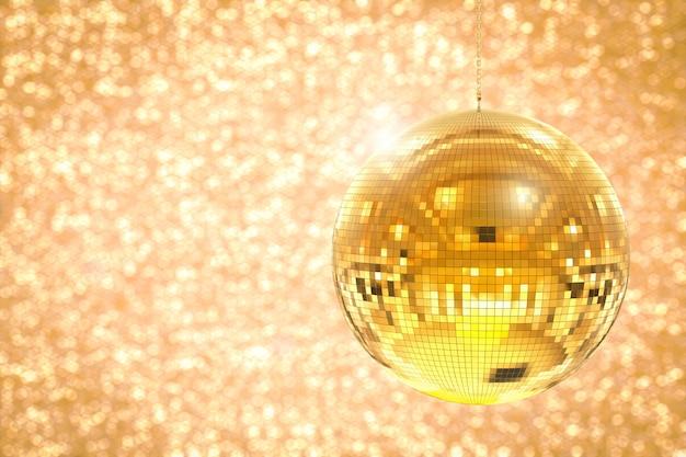 3d 렌더링 빛나는 디스코 공 또는 미러 볼