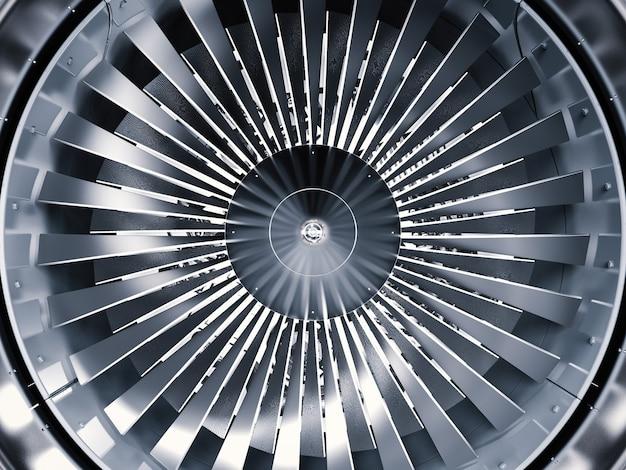 3d рендеринг блестящий реактивный двигатель