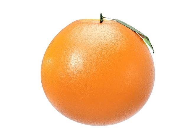 3d визуализация блестящий мандарин на белом фоне