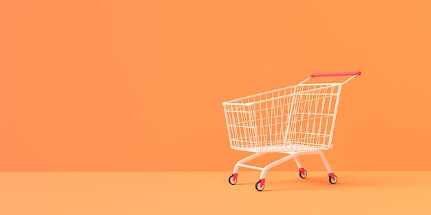 3d rendering of shopping cart