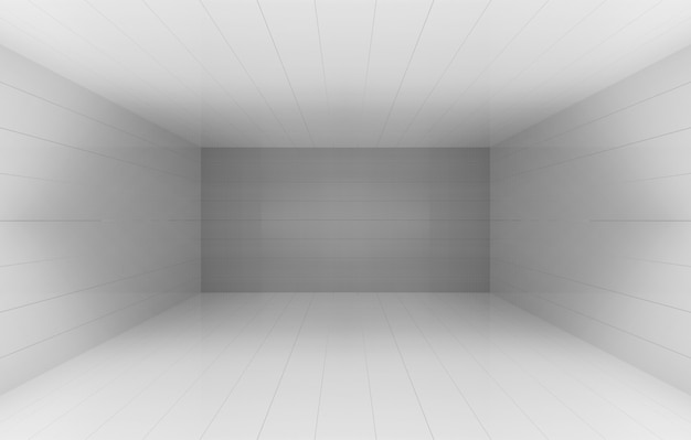 3d rendering. simple gray cube box cornor room square wall background.