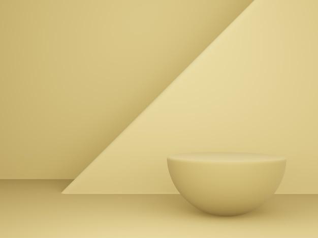 3d 렌더링. 단순한 모양의 제품 스탠드