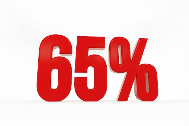 3d rendering of a sixty-five percent