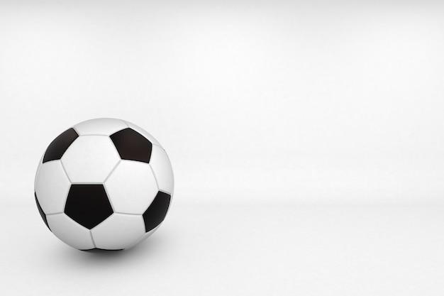 흰색 바탕에 3d 렌더링 축구 공