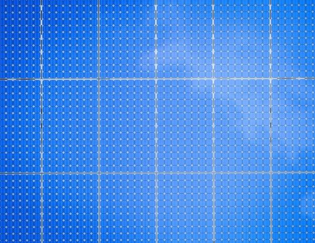 3d рендеринг фона панели солнечных батарей