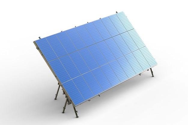 3d-рендеринг солнечной панели на белом фоне