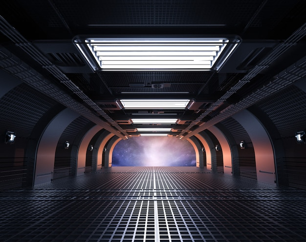 3dレンダリングスペースシャトルインテリア