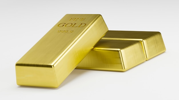 Стек для 3d-рендеринга gold bars, вес 1000 грамм