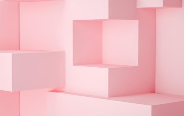 3dレンダリングステージディスプレイの背景、ピンク色