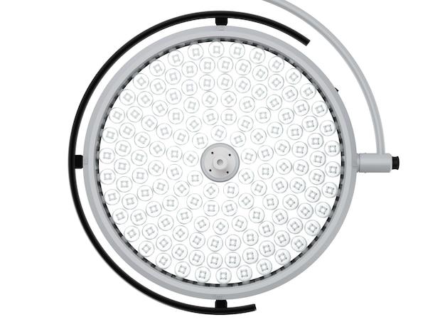 3d-рендеринг хирургических светильников или медицинских ламп, изолированных на белом