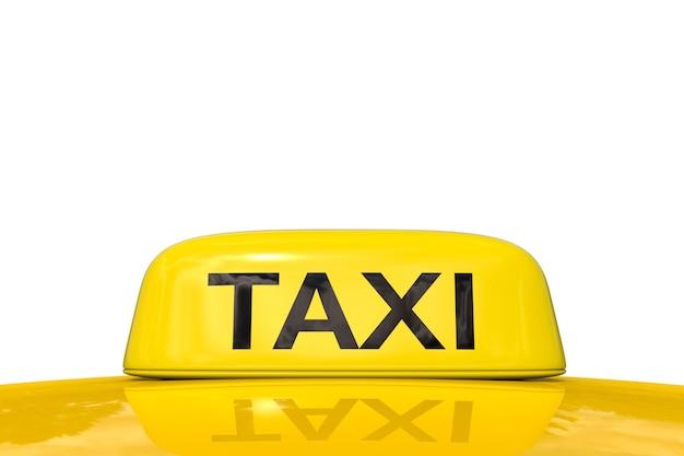 흰색 배경에 3d 렌더링 택시 기호