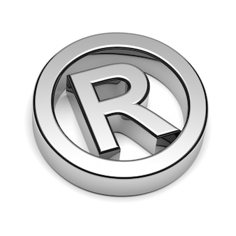 3d rendering of trademark symbol
