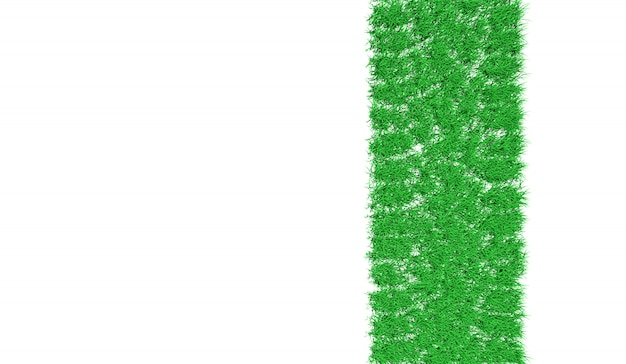 3d rendering trail of a car covered with green grass