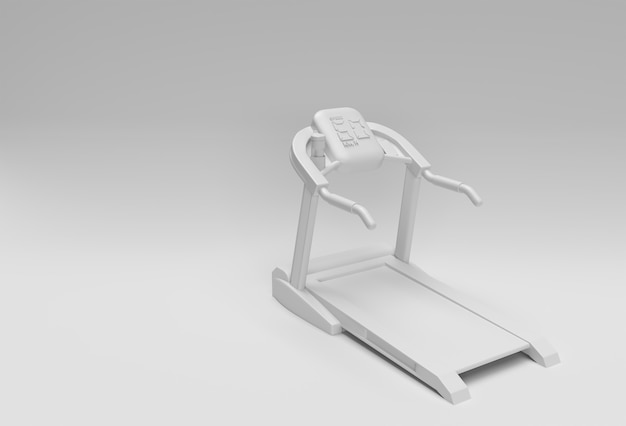 3d rendering treadmill or running machine on white background