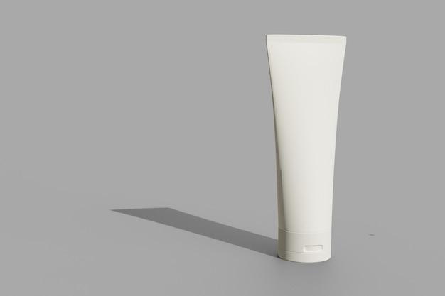 목업 디자인을 위한 흰색의 3d 렌더링 튜브