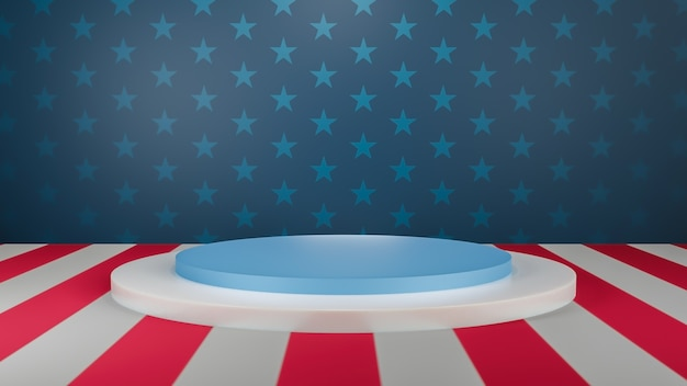 3d rendering usa product stage product display stage for presentation