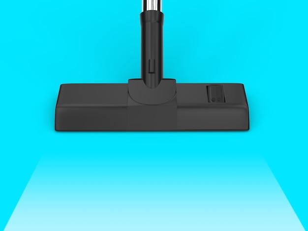 3d рендеринг пылесос с пустой полосой на синем фоне