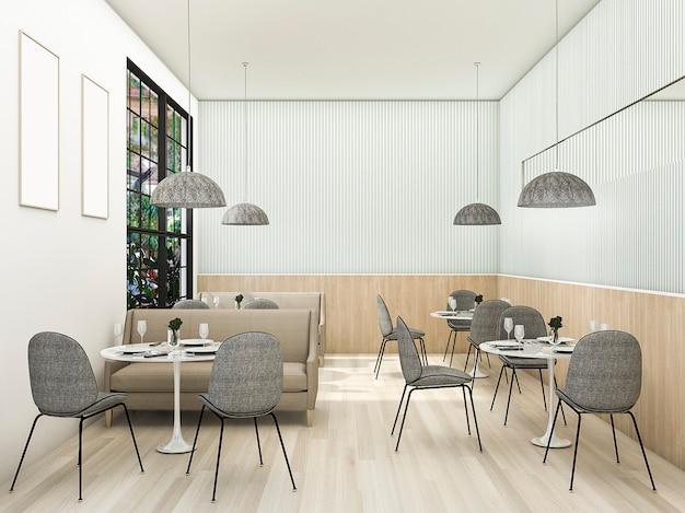 3d rendering vintage contemporary tea shop