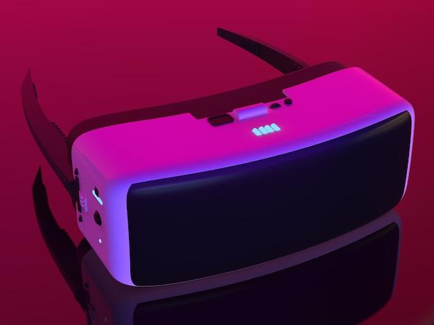 3d-рендеринг очков виртуальной реальности или гарнитуры vr