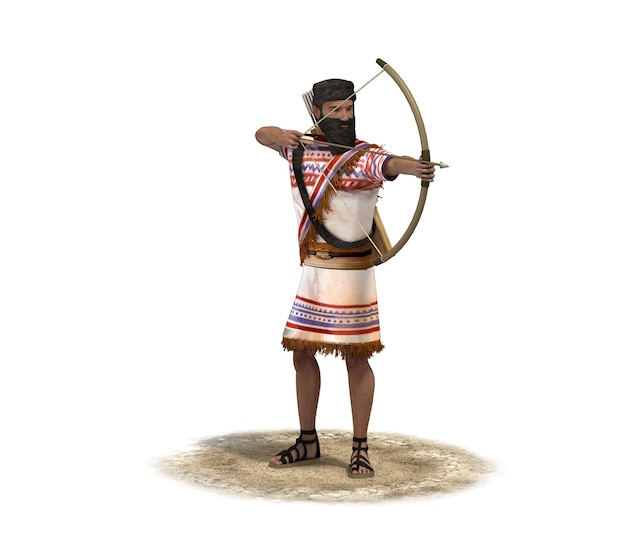 3d rendering, warrior character