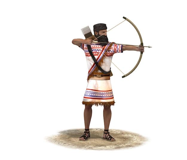 3d-рендеринг, персонаж воина