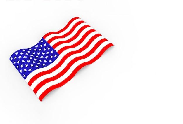 3d rendering. waving united state of america national flag