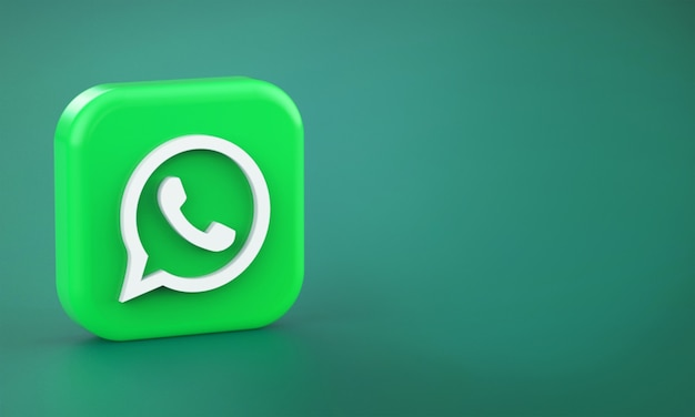 3d rendering of whatsapp logo